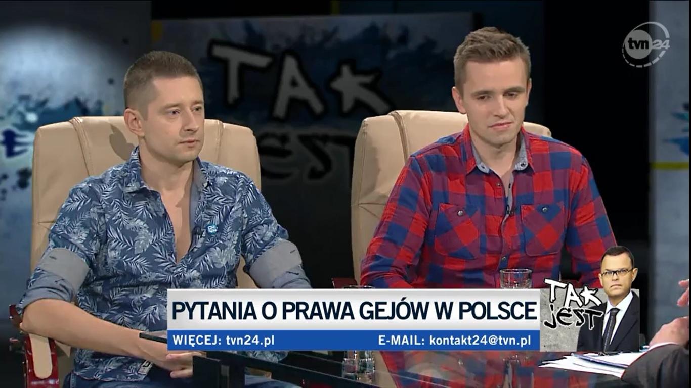"""<b>TVN24 Tak jest!<br>""""Pytanie o prawa gejów w Polsce""""</b><br>27.01.2017"""