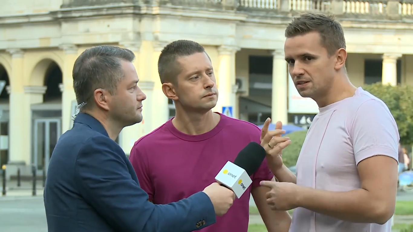 """<b>Onet rano<br>""""Jakub & Dawid – Robert Biedroń to najważniejsza osoba dla środowiska LGBT w Polsce""""</b><br>07.09.2018"""